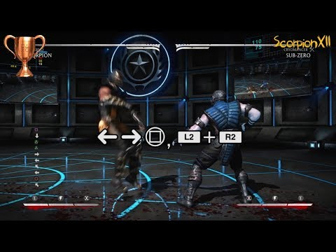 Mortal Kombat X | 10 hit combo with all characters | Knockout Trophy Guide | PS4