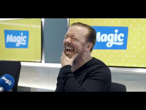 Ronan and Harriet can&39;t keep straight faces with Ricky Gervais  Magic Radio