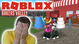 BAKERY CAKES WITH THE MANLY MOOSE! -Roblox Bakers Valley English Ep 1