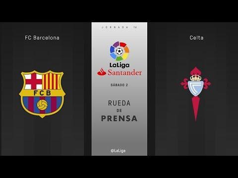 Rueda de prensa FC Barcelona vs Celta
