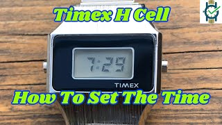 How To Set The Time on a Timex H Cell Watch