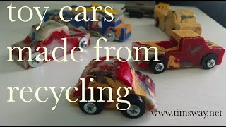 how to make toy cars made from upcycled hdpe (recyclable plastic)