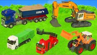 Traktör, Vinç, Ekskavatör ve Yeni  arabalar İş Makineleri - Excavator Toys