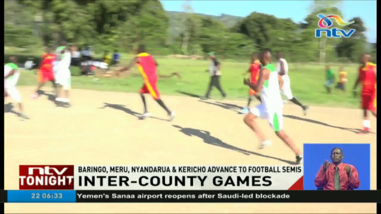 Baringo, Meru, Nyandarua advance to football semis in inter-county games