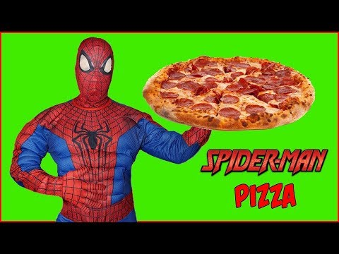 Can Spiderman Make Pizza? Superhero Cooks a Weird Pizza
