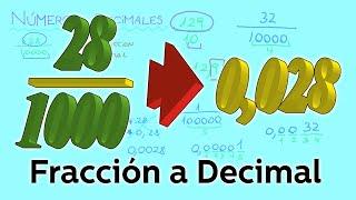 Pasaje de fracción a decimal y de decimal a fracción - Aritmética - Educatina