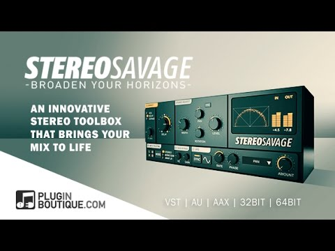 StereoSavage - Stereo Widening Plugin - NEW From Plugin Boutique