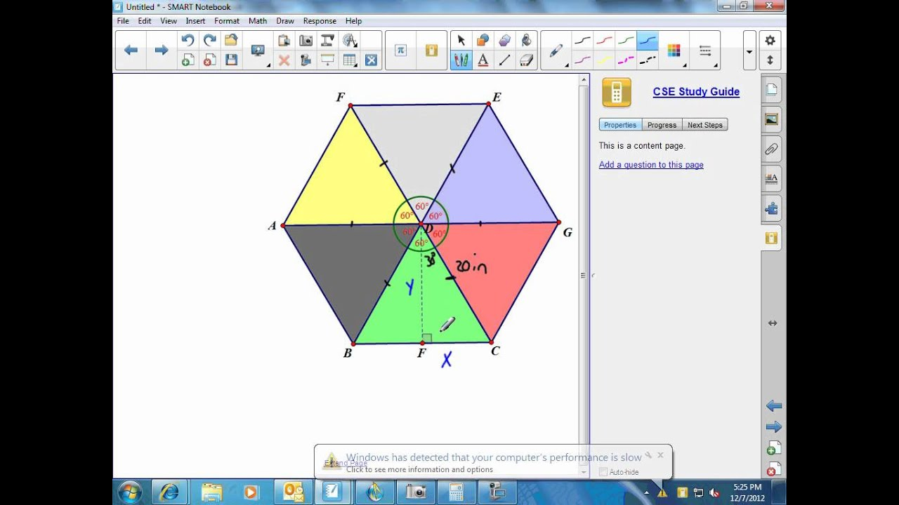 Finding The Area Of A Regular Hexagon