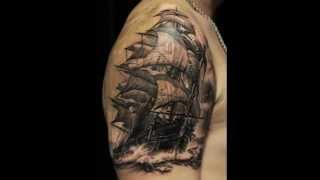 Sail Ship tattoo by Pit Fun Fun . 07/11/2014