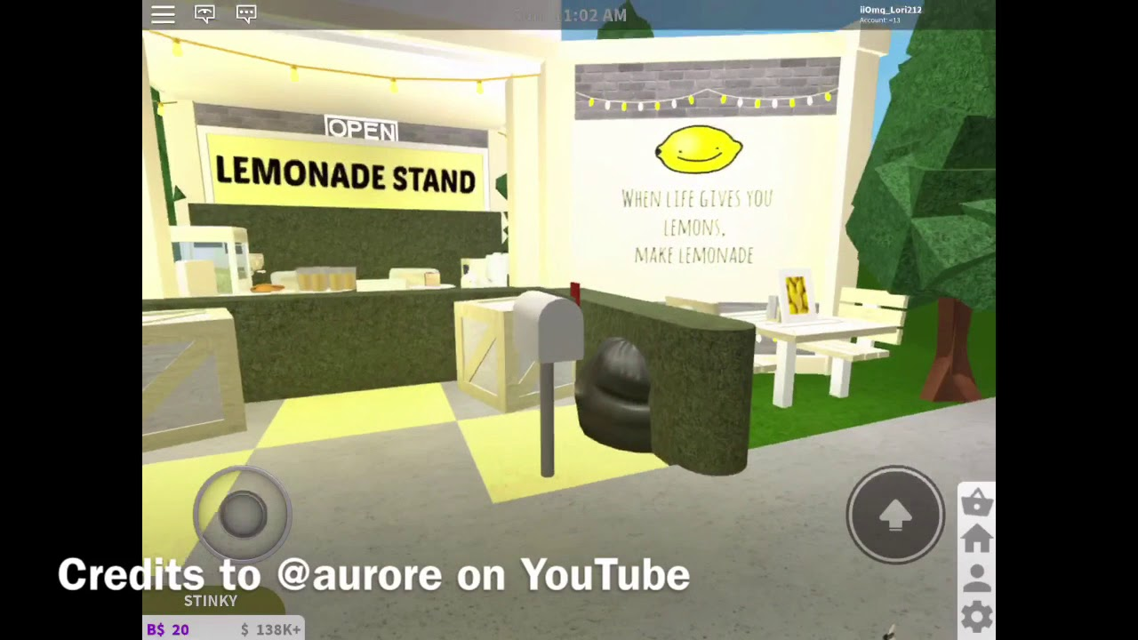 Lemonade Stand Tour Bloxburg Lctix Kid Youtube