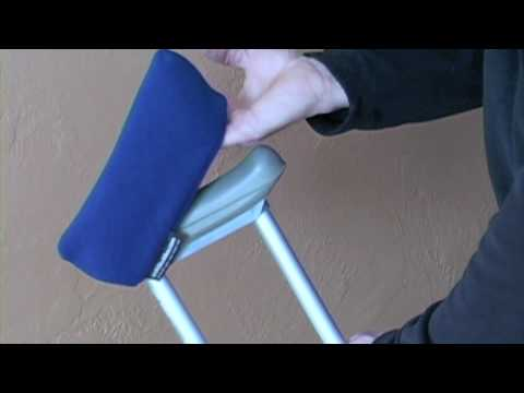 Crutch padding and covers from Crutch Buddies installation