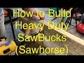 Building Sawhorses - Strong, Durable, EASY to Store, DIY