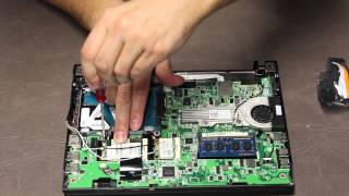 Dell Latitude 2120 Laptop disassemble + replace WWAN card