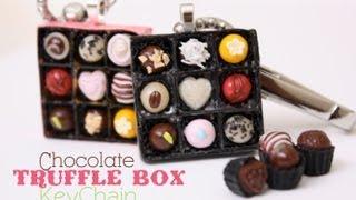 Chocolate Truffle Box - Keychain - How To Make Polymer Clay Candy