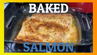 How To Make EĄSY and DELICIOUS Oven Baked SALMON with Mayonnaise