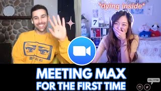 Download lagu I MET MAX?! WHO'S YOUR BTS BIAS??? + WE SANG Blueberry Eyes Together! 💙 A Real Conversation with MAX