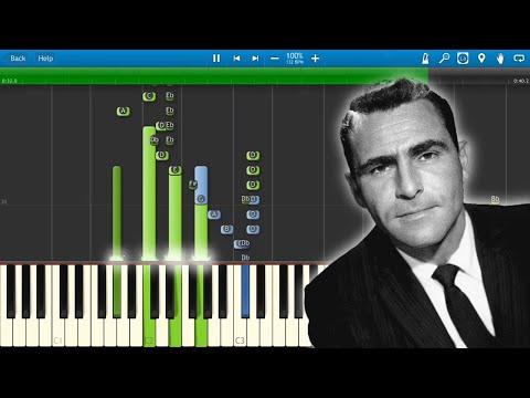 The Twilight Zone - TV Series - Theme Music - Piano Tutorial - Synthesia