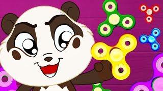 Panda Bo Spielt mit Fidget Spinner - Animation für Kinder
