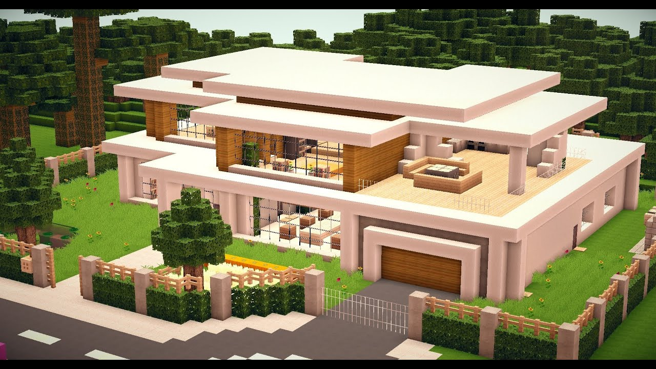 Minecraft modern house 010 hd download youtube for Minecraft maison design