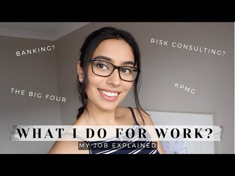 WHAT I DO FOR WORK? | BANKING Vs KPMG | RISK CONSULTING? | AUDIT, CONTROLS, CORPORATES | BySanjna