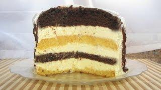 Торт ПТИЧЬЕ МОЛОКО с суфле на МАННОЙ крупе.