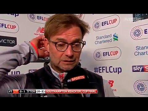 "Jurgen Klopp: ""Sorry..."" - Liverpool 0:1 Southampton (EFL Cup)"