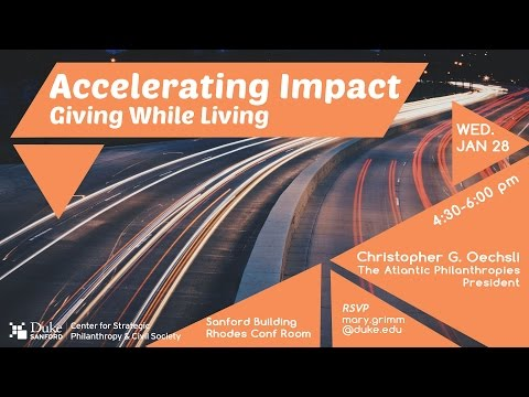 Accelerating Impact – Giving While Living