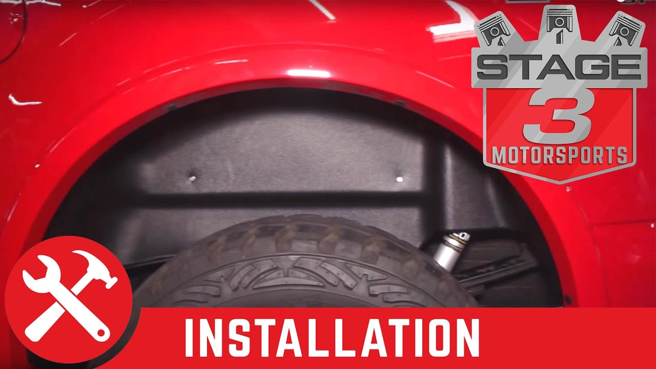 2015 2016 F 150 Husky Liners Rear Wheel Well Guards Install Youtube
