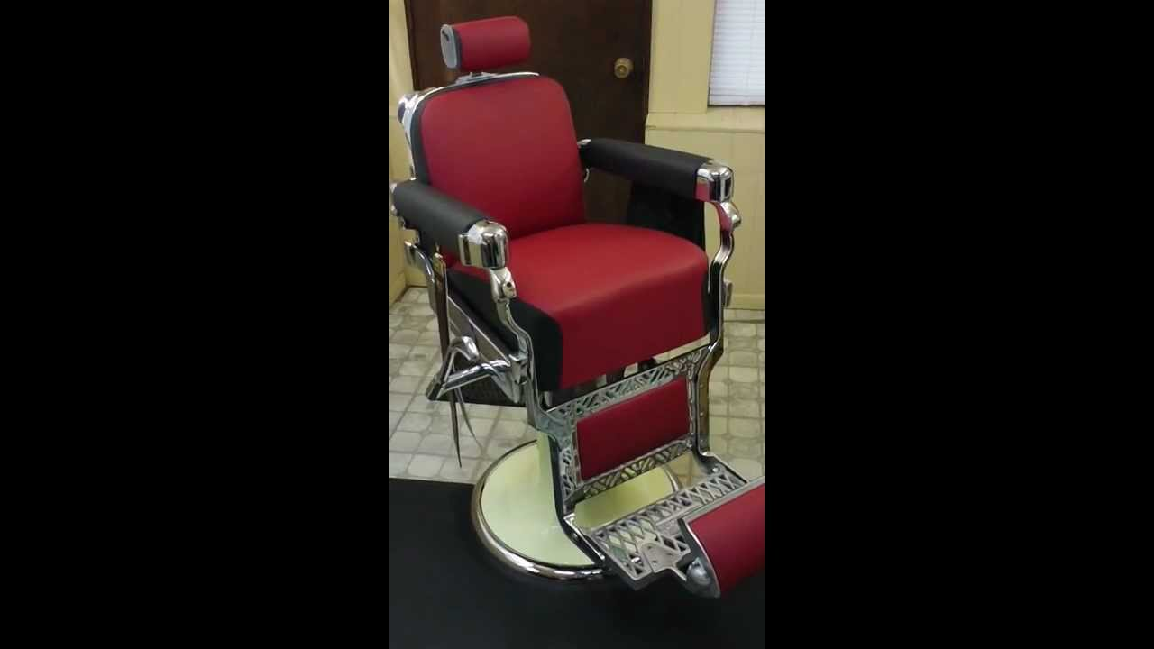 Operation Of The 1950s Belmont Barber Chair 100 Complete Full Restoration
