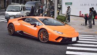 新型ウラカンペルフォルマンテ他 スーパーカー目撃 サウンド/Supercars in Tokyo. HuracanPerformante, 599GTO, Aventador, F12, more‼️