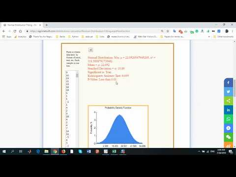 fitting normal distribution to data
