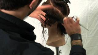 FRENCH BOB CUT Step by Step Video 001 cut by Angelo Atria for GIG - Hair