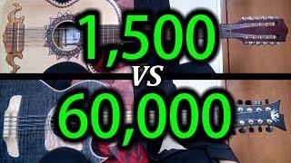 Bajo Quinto de 1,500 VS Bajo Quinto de 60,000