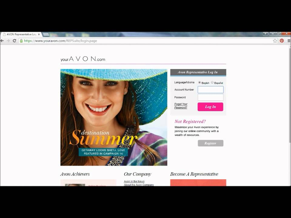 New Rep Tip How To Register Your New Avon Account Youtube