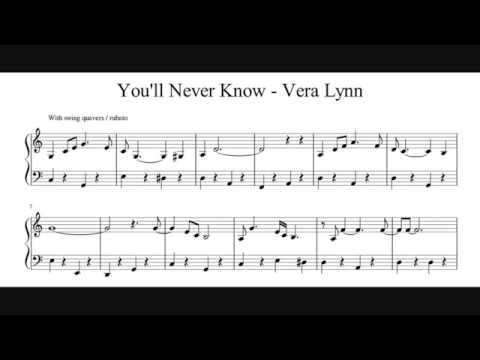 You'll Never Know - Piano Sheet Music (No Audio)