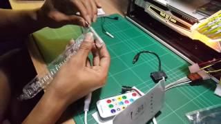 ช ด upgrade led ค ำการ ดจอ rgb graphic card holder