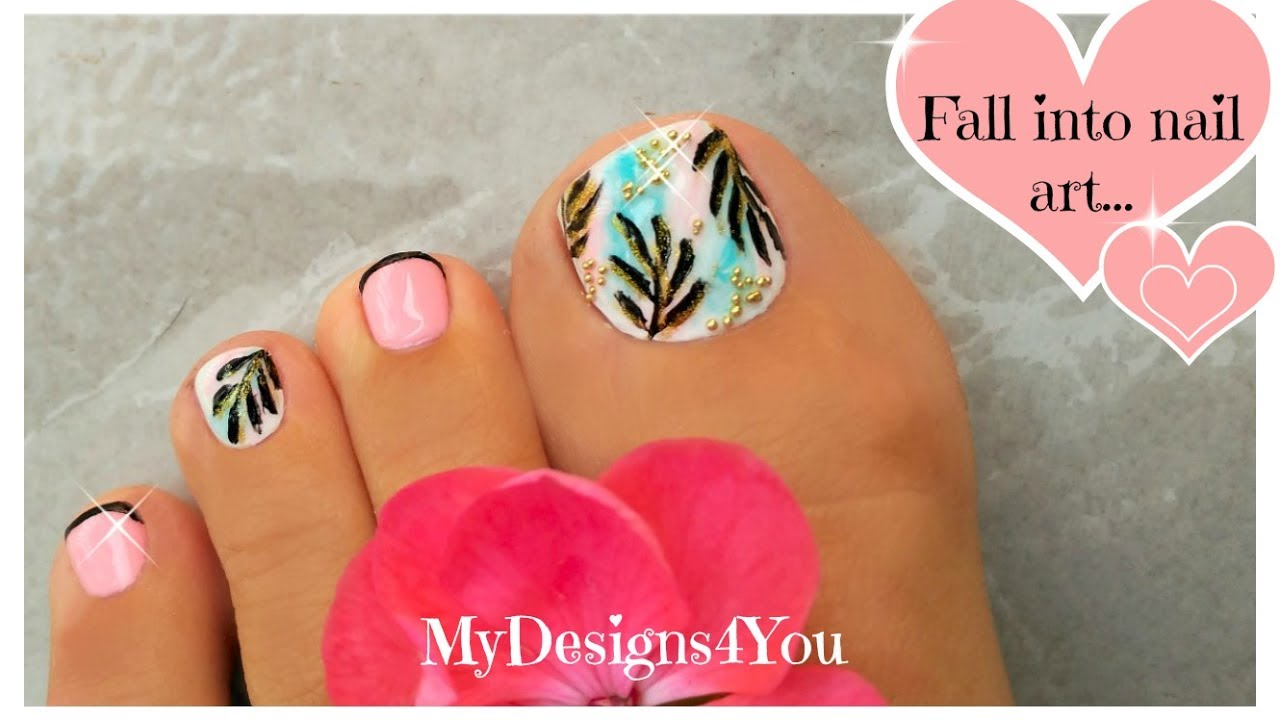 Exotic Toenail Art Tutorial | Luxurious Tropical Pedicure ♥ - YouTube