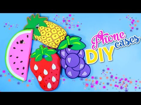 DIY Phone Cases 4 phone DIY fruits cases Watermelon - Grapes -  Strawberry case and pineapple case