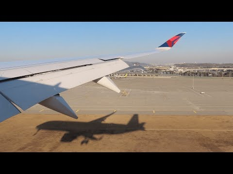 Delta Airlines Airbus A350-900 Detroit to Seoul   N507DN   4K Video
