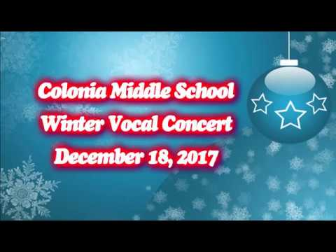 Colonia Middle School Winter Vocal Concert