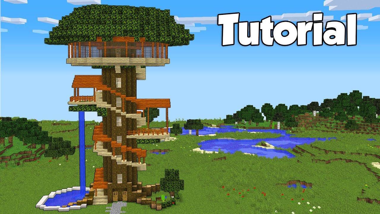 Minecraft: How To Build a Tree House - Tutorial