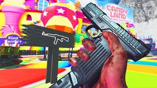 'NEW' CRAZY CANDYLAND ZOMBIE SURVIVAL CHALLENGE! (COD Custom Zombies)