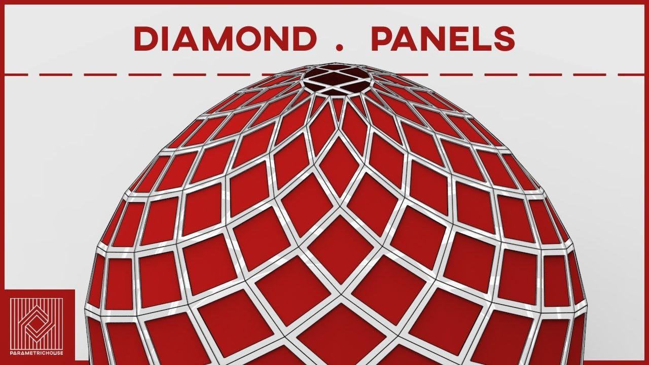 Lunchbox Grasshopper Tutorial (Diamond Panels)