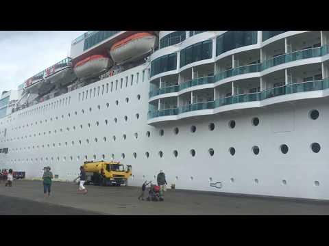 Costa NeoRomantica at Seychelles port