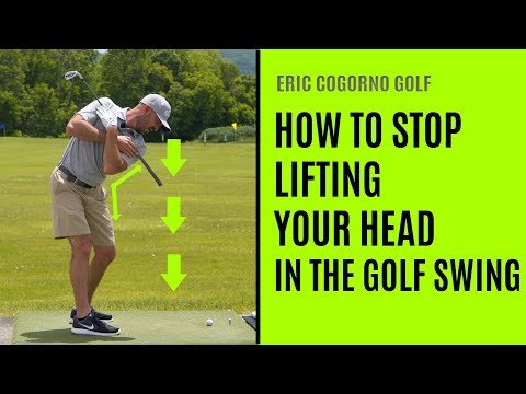 GOLF: How To Stop Lifting Your Head In The  Golf Swing
