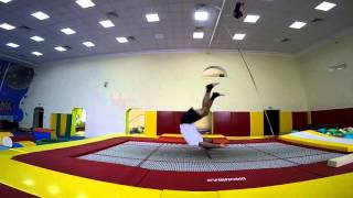 Прыжки на батуте (часть 2)