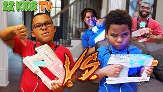 Laser Tag Challenge! Who Will Win? (Team ZZ or Team Goo Goo?)