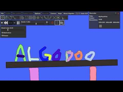 Algodoo - Physics Educational Software by Algoryx Simulation on the Classmate PC