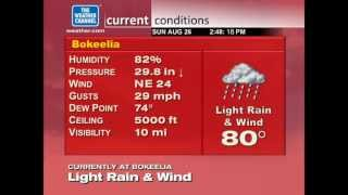 WeatherStar XL Emulation - Bokeelia, FL (Storm Alert Mode) - Sunday, 8/26/2012 (2:50 PM EDT)