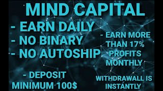 Launch Mind Capital, Earn money with Arbitrage in Cryptocurrencies. Compound interest